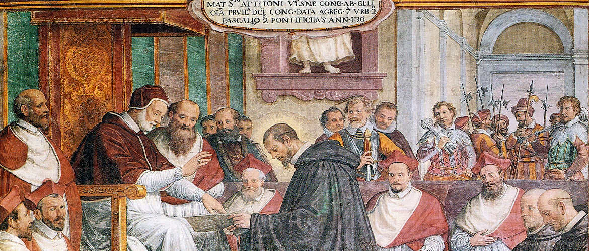 Meeting between the Pope Innocenzo II and the Abbot Atto